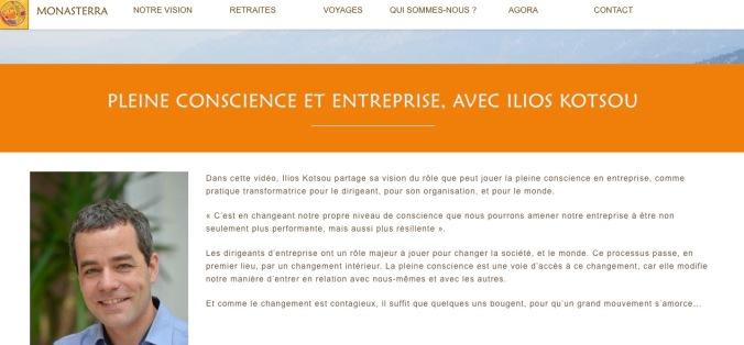 monasterra pleine conscience entreprise ilios kotsou meditation leadership lille